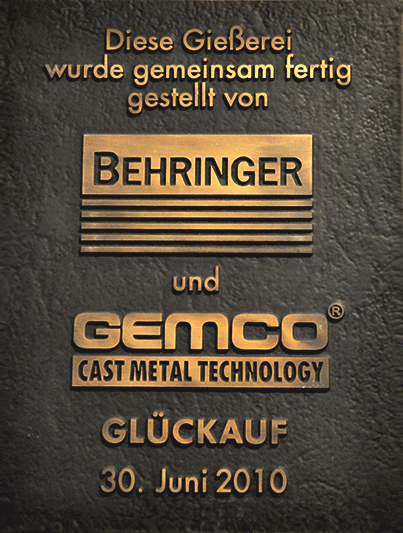 BEHRINGER, foundry realization
