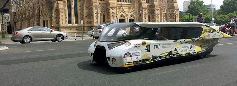 TU/e in World Solar Challenge, 2013 (Stella) and 2015 (Stella Lux) winner in the cruiser class (photo TU/e)