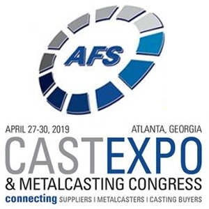 CASTEXPO & Metalcasting Congress 2019, APRIL 27-30, Atlanta, Georgia